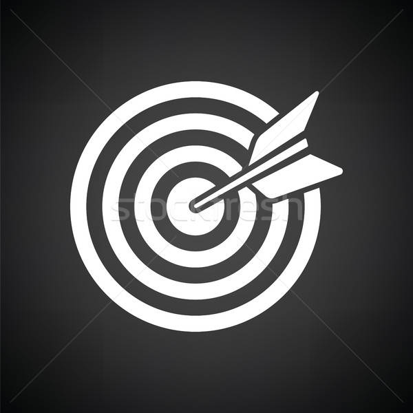 Objetivo dardo icono blanco negro oficina trabajo Foto stock © angelp