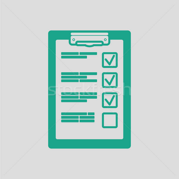 Training plan tablet icon Stock photo © angelp