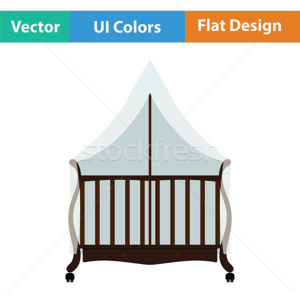 Crib with canopy icon Stock photo © angelp