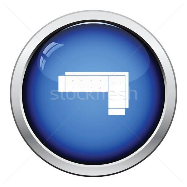 コーナー ソファ アイコン ボタン デザイン ストックフォト © angelp