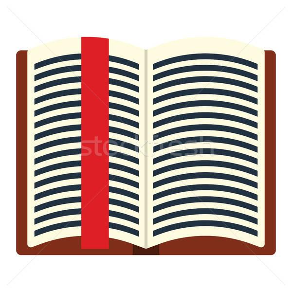 Livro aberto marcar ícone cor projeto livro Foto stock © angelp