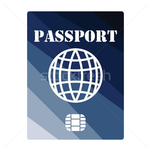 паспорта чипа икона цвета дизайна бизнеса Сток-фото © angelp