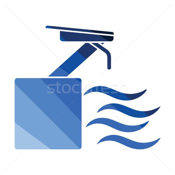 дайвинг стоять икона цвета дизайна воды Сток-фото © angelp