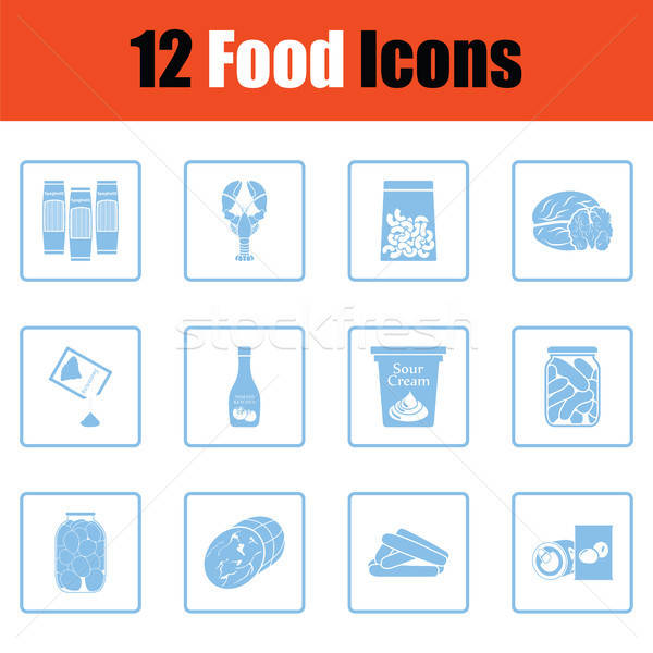 Set of food icons Stock photo © angelp