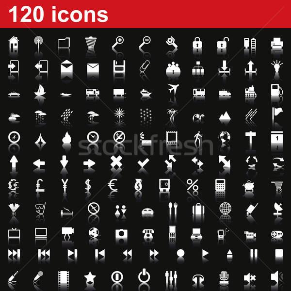 Kolekcja inny ikona web design działalności Zdjęcia stock © angelp