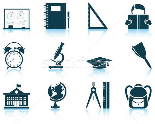 Set of education icon Stock photo © angelp