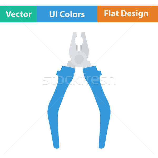 Flat design icon of pliers Stock photo © angelp
