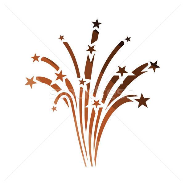 Fireworks icon Stock photo © angelp