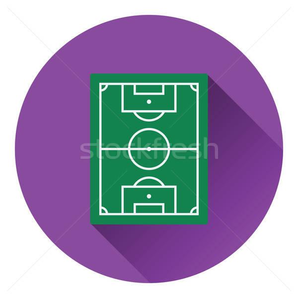 Ikon futballpálya szín terv futball sport Stock fotó © angelp