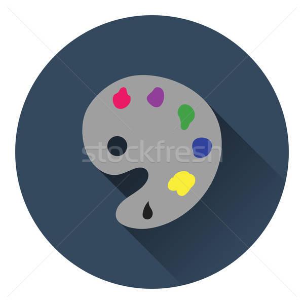 Stockfoto: Palet · icon · kleur · ontwerp · abstract · kunst