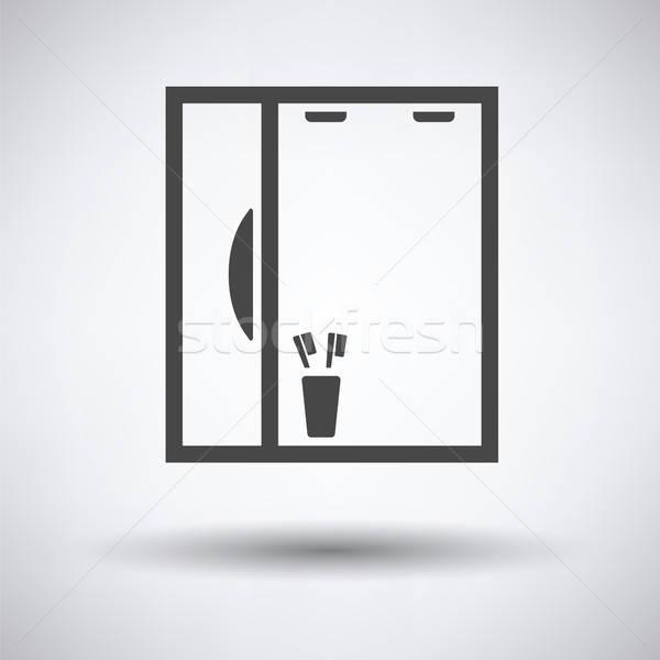 Bathroom mirror icon Stock photo © angelp