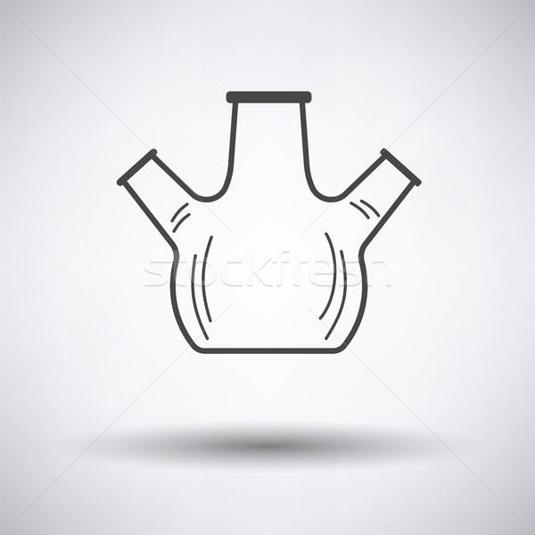 Icon of chemistry round bottom flask with triple throat Stock photo © angelp