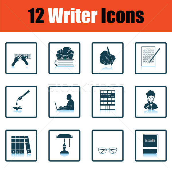 Stock photo: Set of writer icons