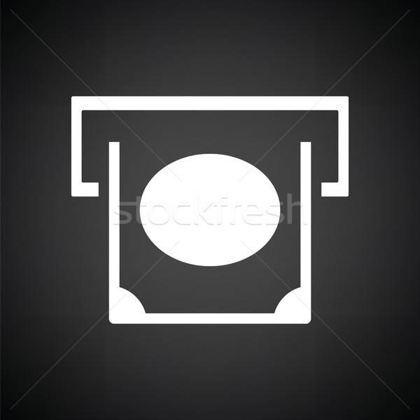 Atm icône blanc noir argent Photo stock © angelp