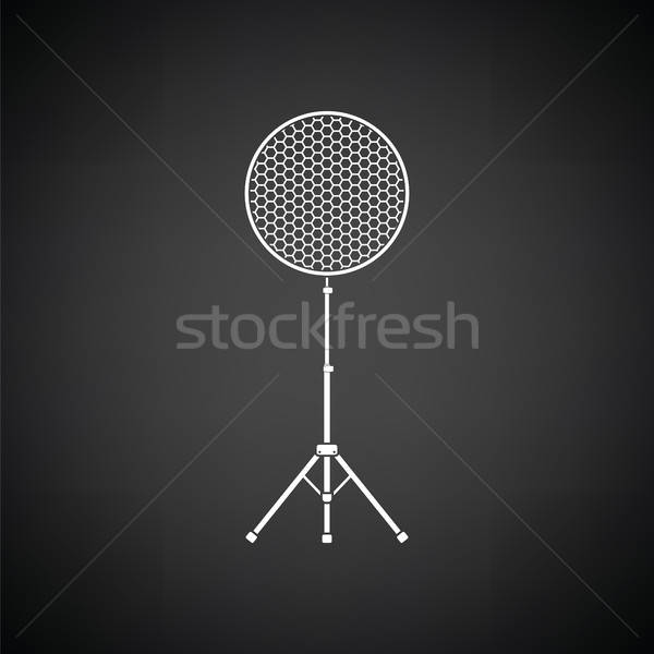 ícone beleza prato flash preto e branco tecnologia Foto stock © angelp