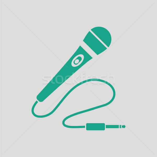 Stock photo: Karaoke microphone  icon