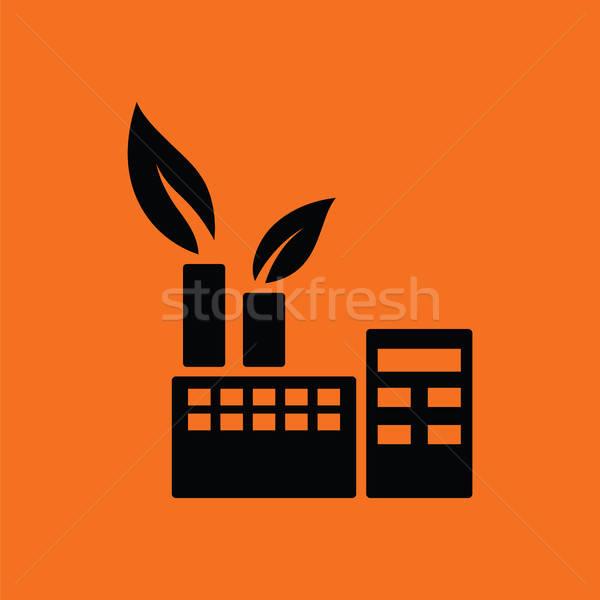 生態学的な アイコン オレンジ 黒 ツリー ストックフォト © angelp