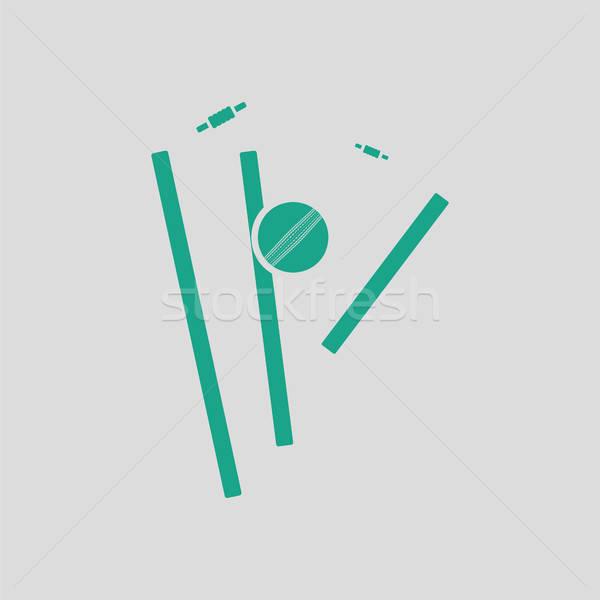 クリケット アイコン グレー 緑 スポーツ 赤 ストックフォト © angelp
