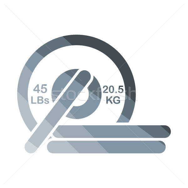 Barbell disks icon Stock photo © angelp