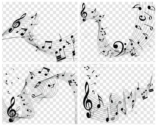 Musical Designs Stock photo © angelp