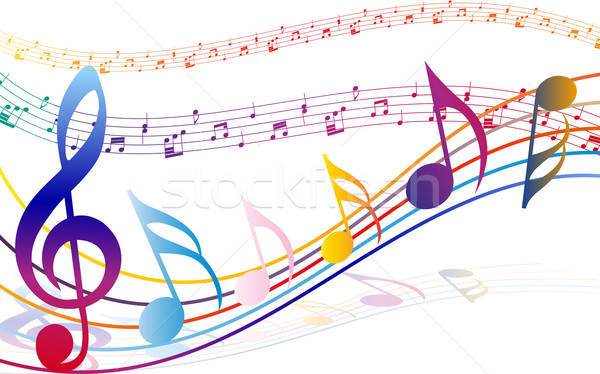 Multicolour  musical  Stock photo © angelp
