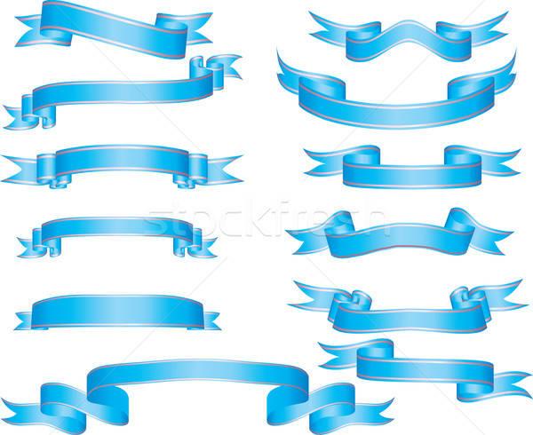 set of ribbons Stock photo © angelp