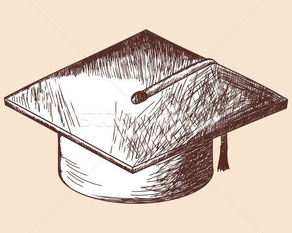 Graduação boné esboço eps 10 escolas Foto stock © angelp