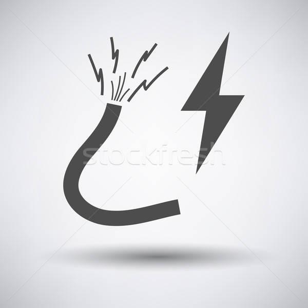 проволоки икона серый технологий промышленности кабеля Сток-фото © angelp