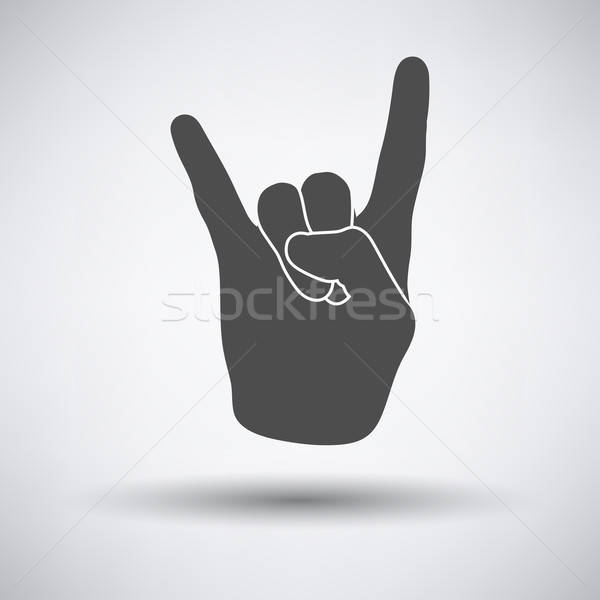 Rock hand icon Stock photo © angelp
