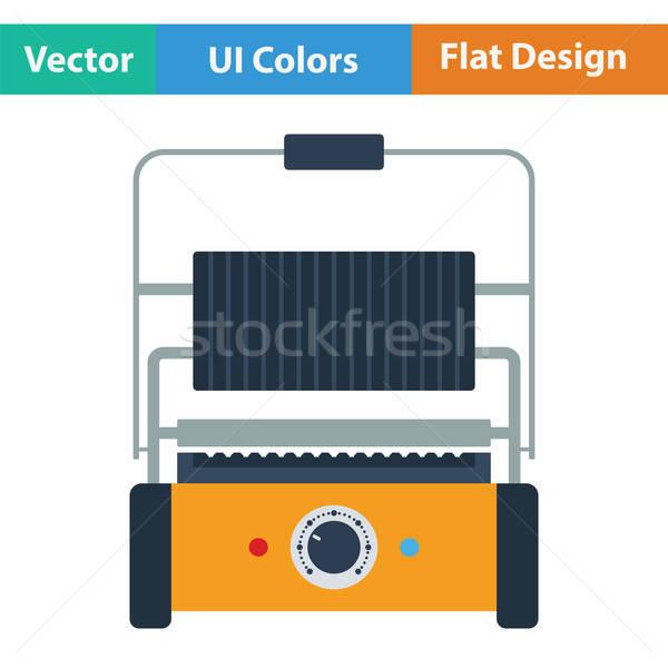 кухне электрических гриль икона продовольствие дизайна Сток-фото © angelp