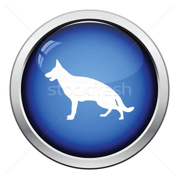 German shepherd icon Stock photo © angelp