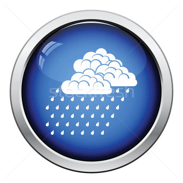 Precipitazioni icona lucido pulsante design acqua Foto d'archivio © angelp