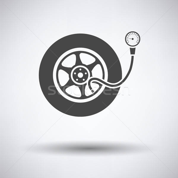 Stock photo: Tire pressure gauge icon