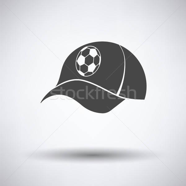 Football fans cap icône gris heureux Photo stock © angelp