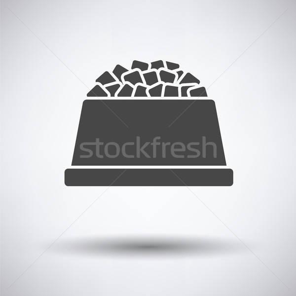 Dog food bowl icon Stock photo © angelp
