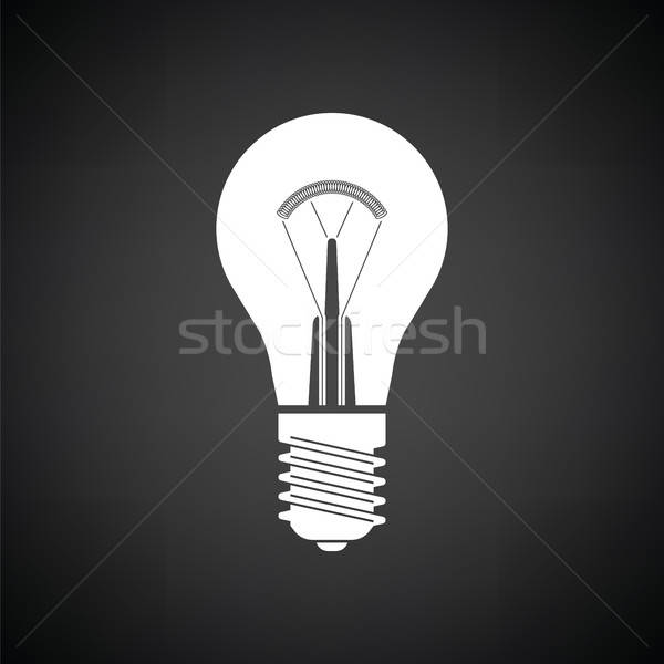Electric bulb icon Stock photo © angelp