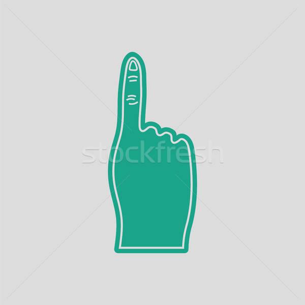 Fans foam finger icon Stock photo © angelp
