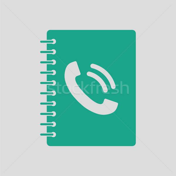 Telefon kitap ikon gri yeşil iş Stok fotoğraf © angelp