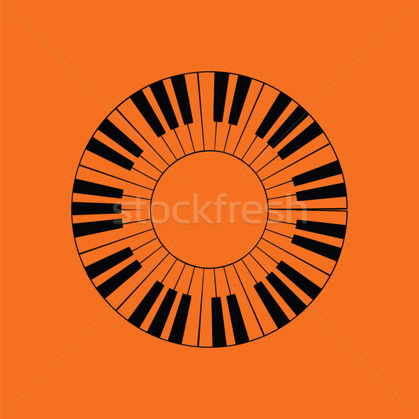 Piano circle keyboard icon Stock photo © angelp