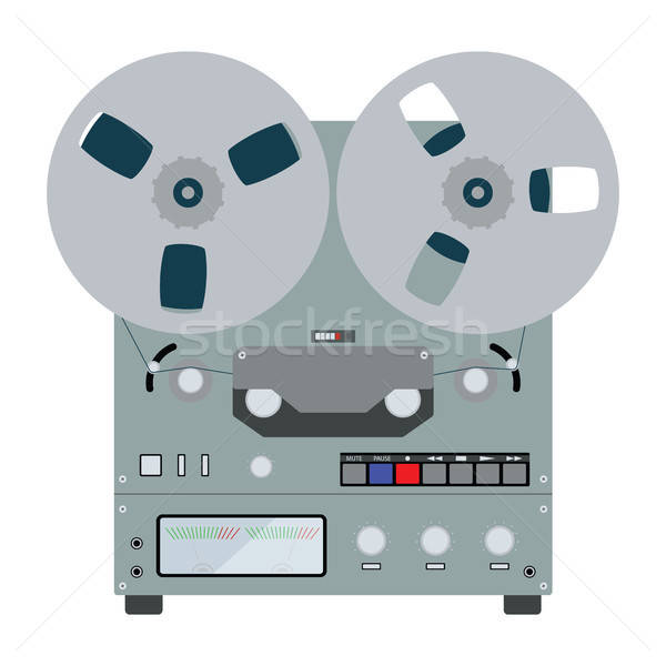 Reel tape recorder icon Stock photo © angelp