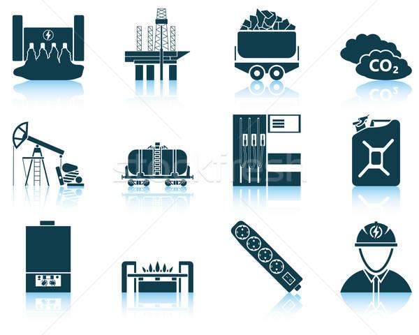 Set of energy icon Stock photo © angelp