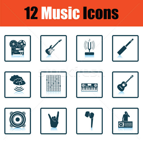 Set of musical icons. Stock photo © angelp