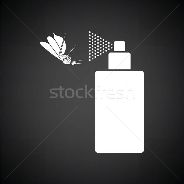 Zanzara spray icona bianco nero mondo medicina Foto d'archivio © angelp