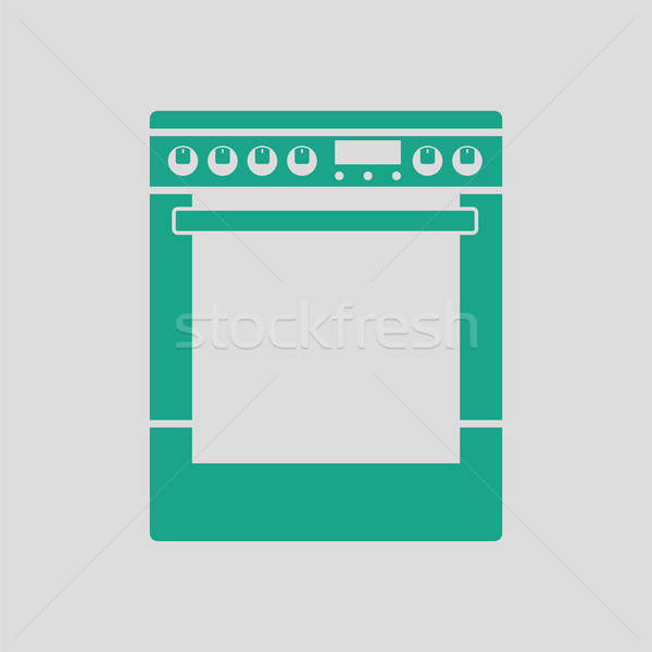 Kitchen main stove unit icon Stock photo © angelp