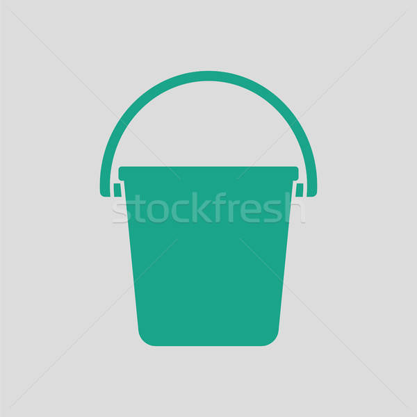 Icon of bucket Stock photo © angelp