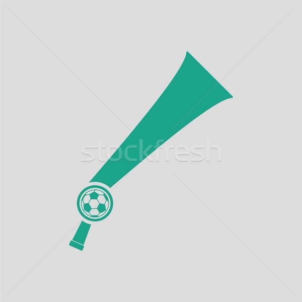 Futball szurkolók szél duda játék ikon Stock fotó © angelp