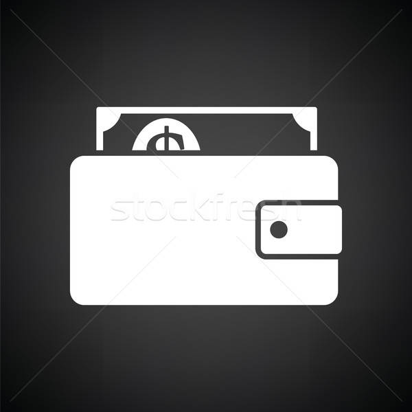 Wallet with cash icon Stock photo © angelp