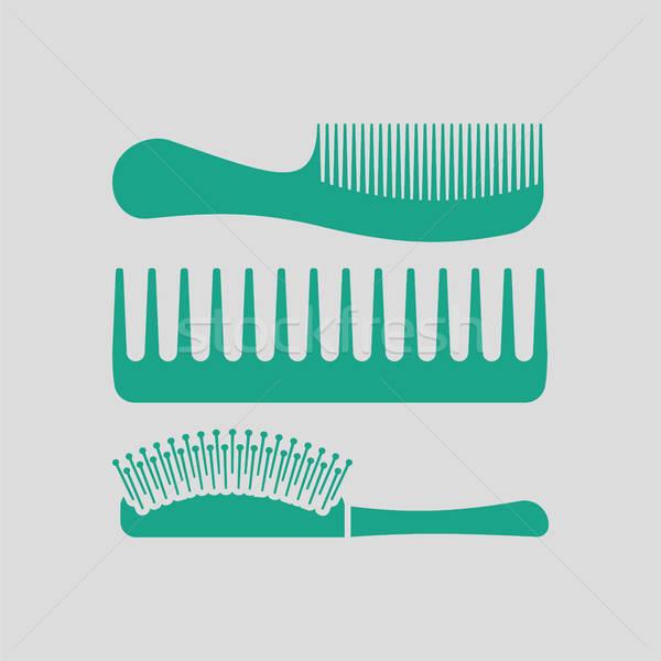 Hairbrush icon Stock photo © angelp