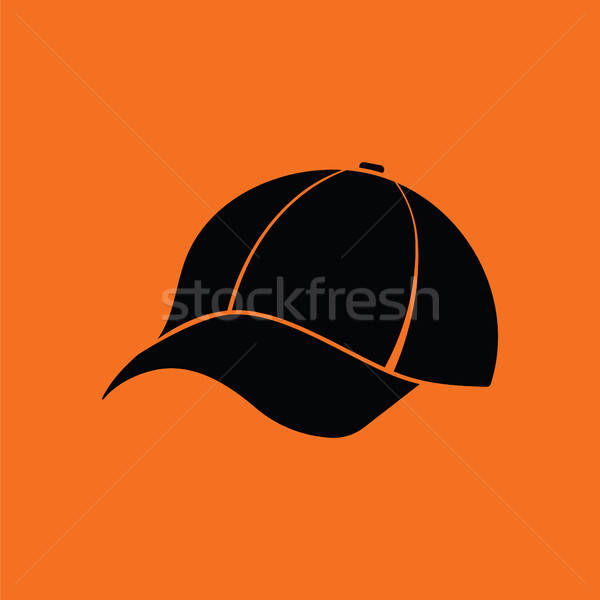 Baseballsapka ikon narancs fekete divat baseball Stock fotó © angelp