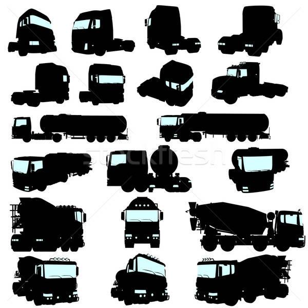 Stock photo: truck set
